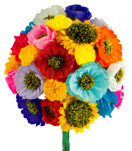 Mexican Paper Flowers Bouquet