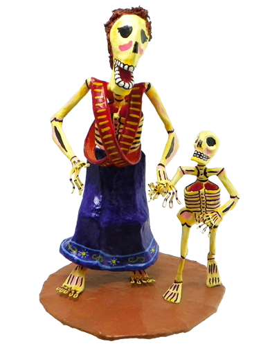 Adelita and son skeleton