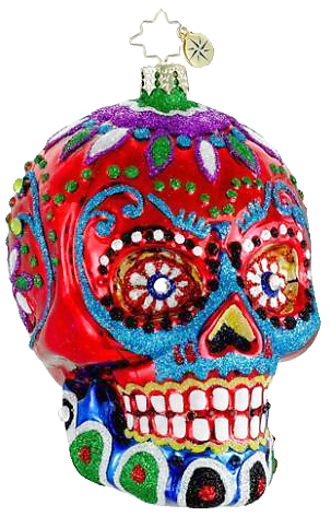 day of the dead christmas ornament