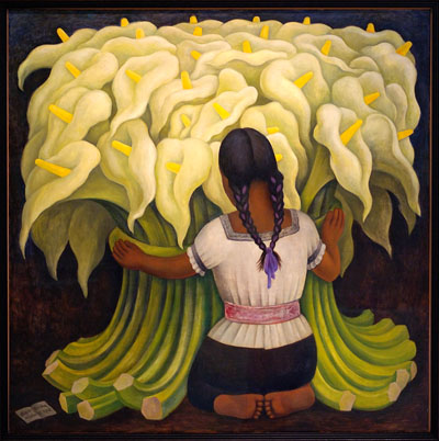 Mexican paper flowers for Diego rivera s most famous mural