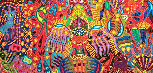 huichol yarb huichols yarn painting - Patterns For Painting