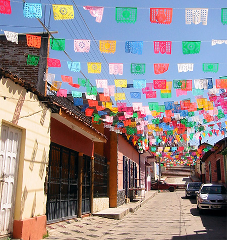 Papel picado ornate street