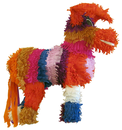 Dog shaped pinata