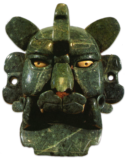 Jade Bat God Mask