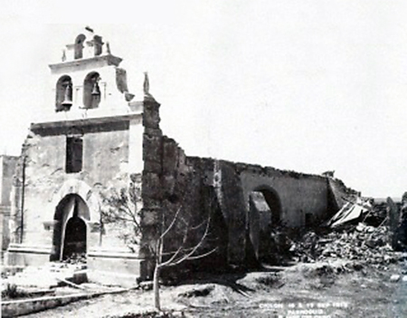 San Jose Church destroyed