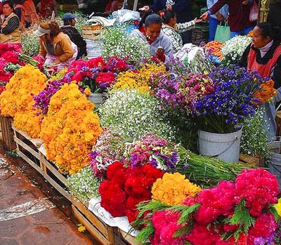 Mexican flowers market