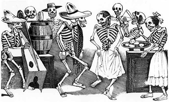 Posadas Jarabe Tapatio Dance Etching By Jose Guadalupe Posada Day Of The Dead Folk Art Styles