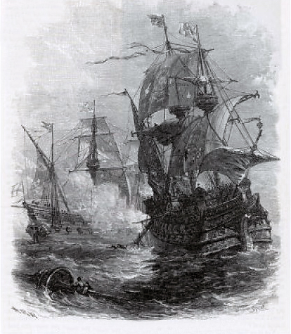 Capture of the Santa Anna by Cavendish