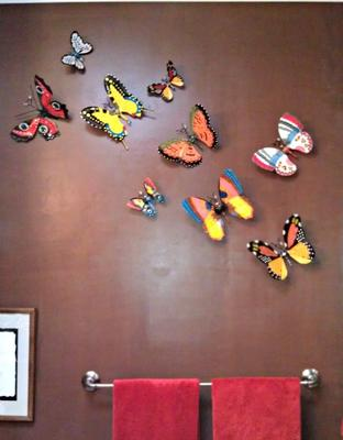 Butterflies in my Bathroom